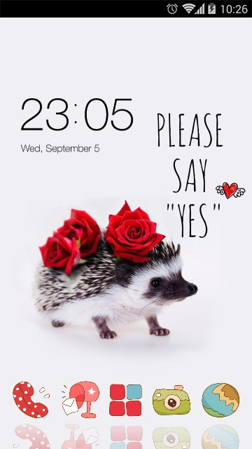 Red rose wallpaper cute Hedgehog theme