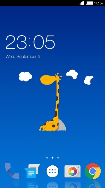 Theme for Lava Iris 456 giraffe cartoon wallpaper