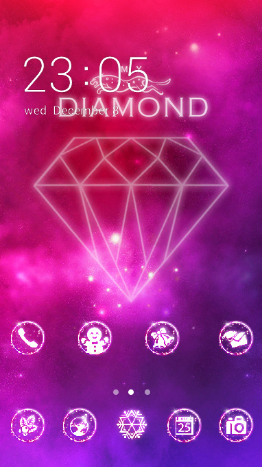 Crystal theme bling colorful diamond wallpaper