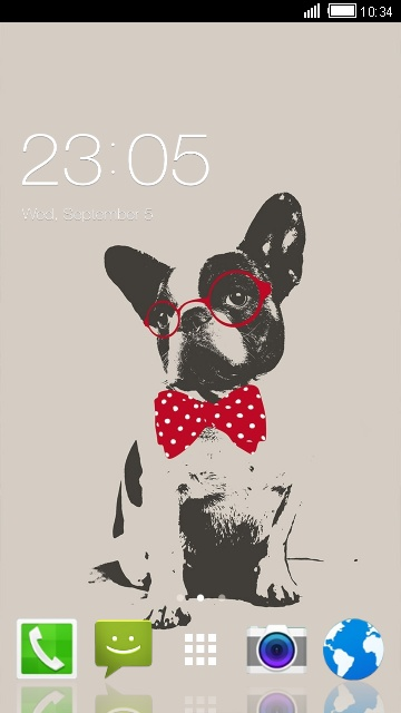 Cute Puppy Theme for Karbonn Smart A50s