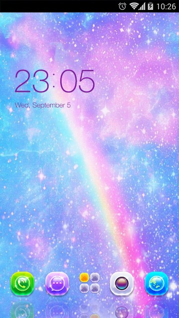 Rainbow Theme Glitter Live Wallpaper