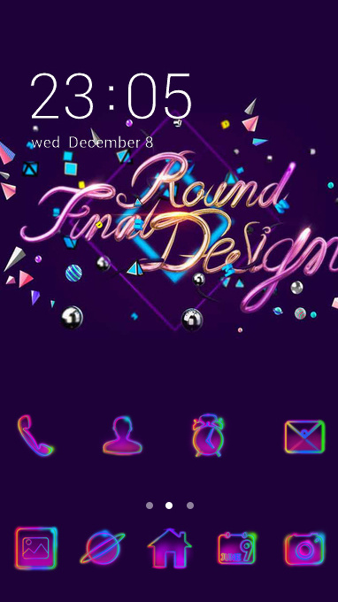 Colorful theme colorful neon purple wallpaper