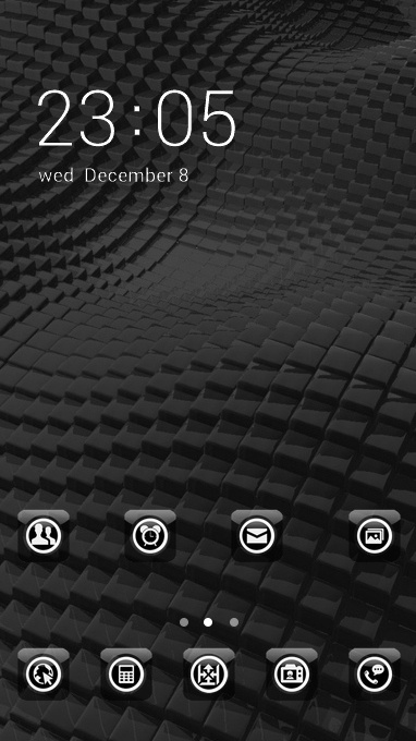 Cool theme surface rough black cubic 3d wallpaper