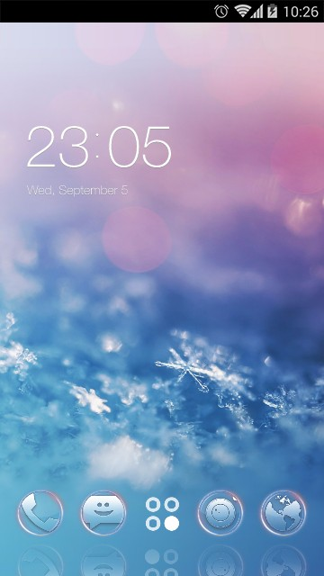 Winter Snowflake Live Wallpaper & Theme
