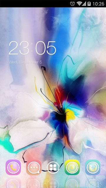 Abstract Flower Theme Oil Painting Art Wallpaper