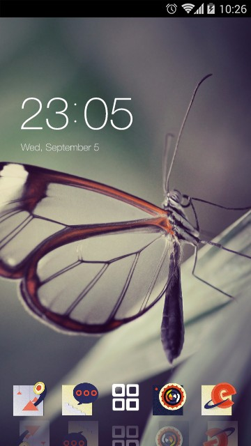 Vivid Butterfly Live Wallpaper & Theme