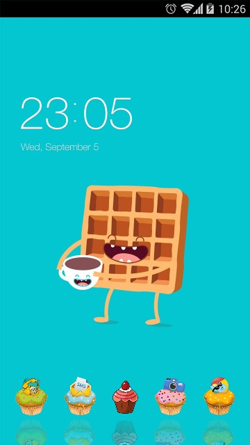Sweet Cartoon ColorOS Launcher Theme for Oppo