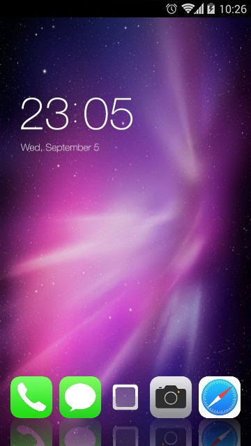 Purple Neon Theme for iPhone X