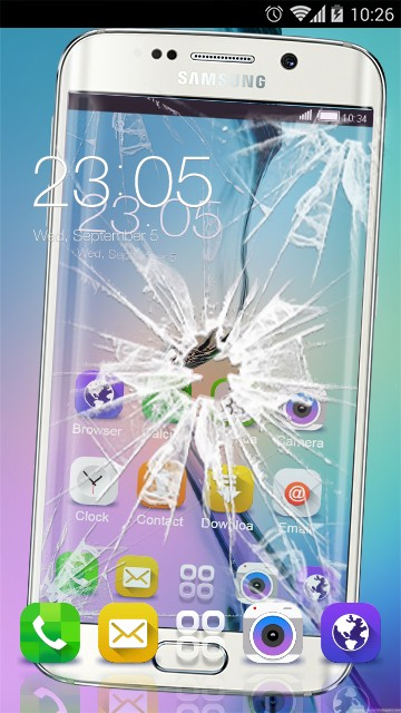 Cracked screen Samsung