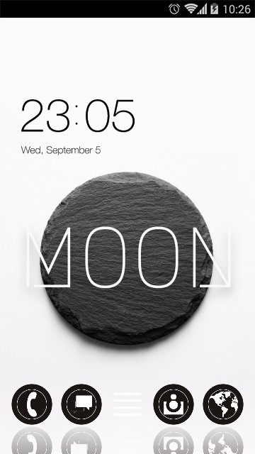 Black & White Moon Stone Theme