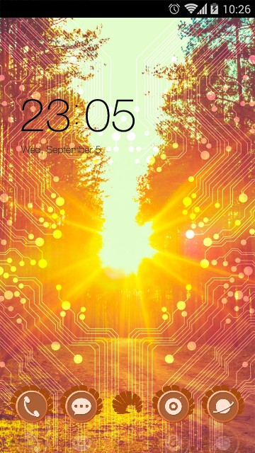 Sunshine Live Wallpaper & Theme Icon Pack