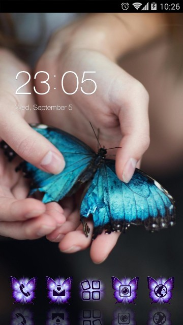 Blue Butterfly Spring theme