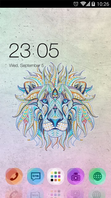 Hand Drawn Color Lion