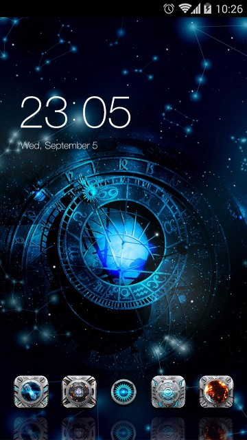 Mystical Theme Astronomical Clock Wallpaper