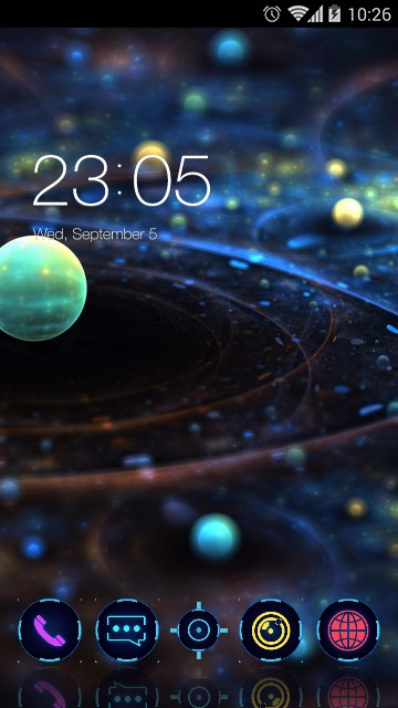 Galaxy Space Tech Theme