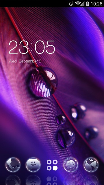 Purple Romantic Theme & Wallpaper Icon Pack