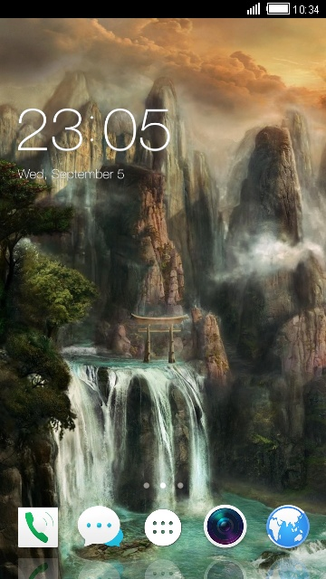 Theme for Xolo A550s IPS Fantasy Landscape