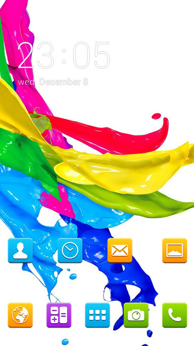 Colorful theme