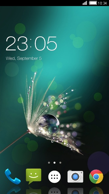 Pure Dew Theme for Intex Aqua Xtreme II
