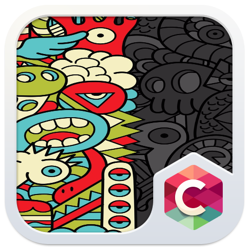 Abstract Cartoon Theme Cute Monster Wallpaper Free Android Theme