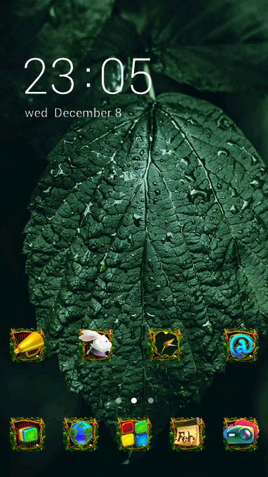 natural leaves theme