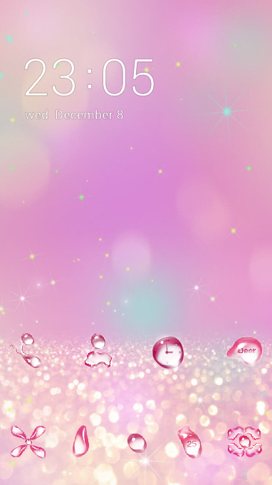 Abstract theme pink crystal business wallpaper