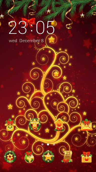 Fantasy theme colorful holiday wallpaper