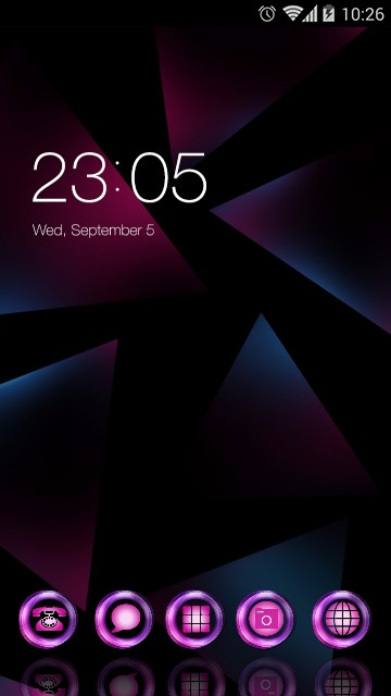 Neon Purple Theme for Nokia 6
