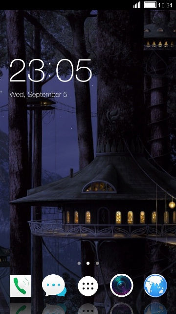 Theme for Lava A50 Treehouse Night Wallpaper