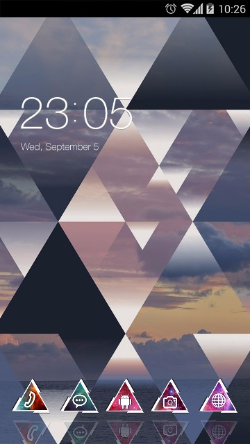 Colorful Sky Theme:Triangle Pixel Live wallpaper