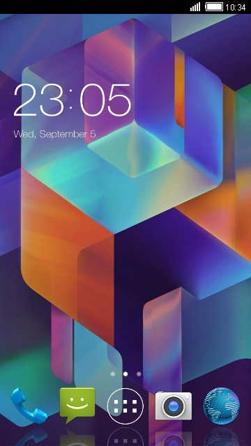 Theme for Titanium S25 Klick: 3D Abstract Skin