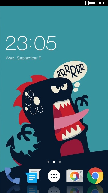 Cute dinosaur Theme for Lava Iris 400 Colours