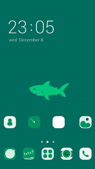 Cute Shark theme