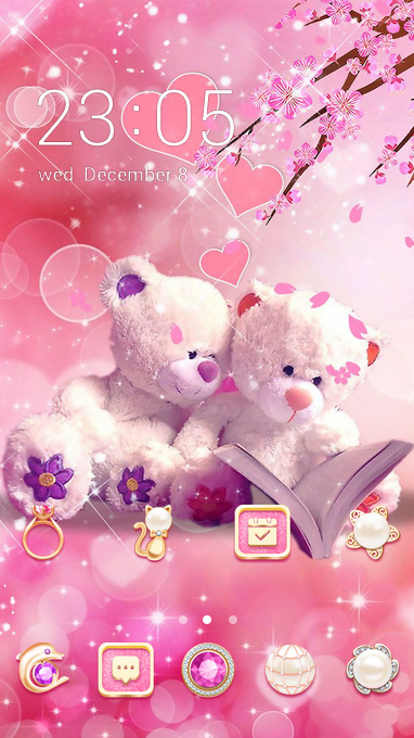 Pink romantic couple