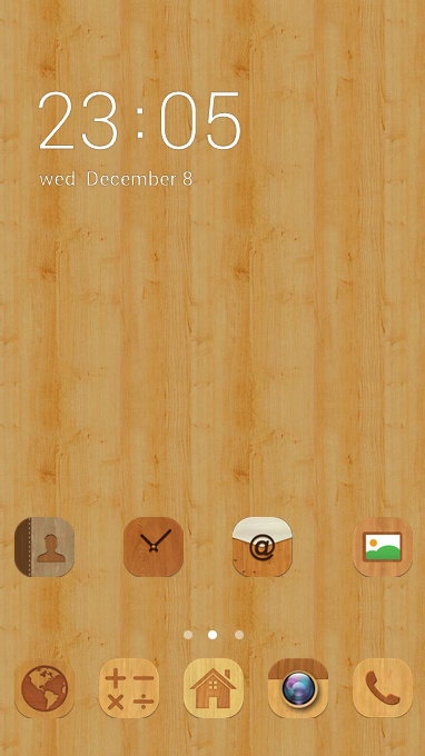 Wood pattern theme