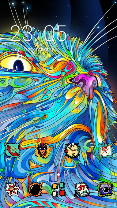 Graffiti art theme abstraction vector wallpaper
