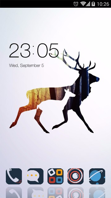 Theme for Karbonn A1+ Super: Lost elk Wallpaper