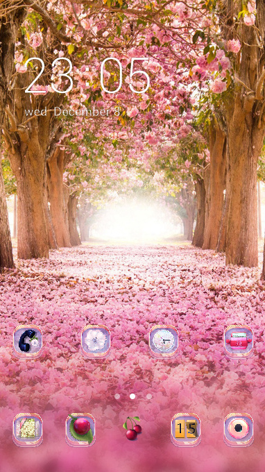 Nature theme natural pink flower wallpaper