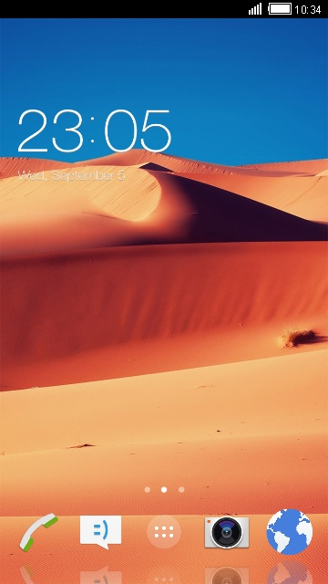 Desert Scenery Theme for Sony Xperia Z3+