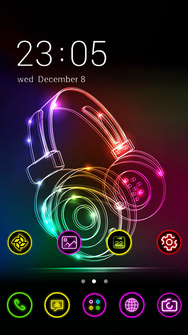 neon headphone