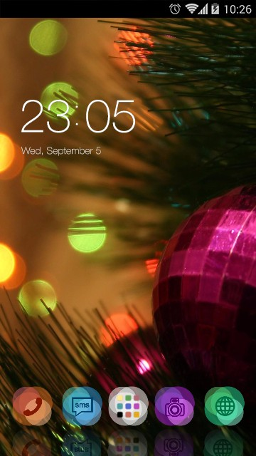 Neon ball theme:happy xMAS
