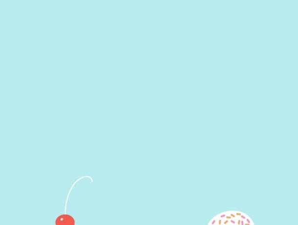 Cute Cartoon Ice Cream ThemeTiffany Blue Colour