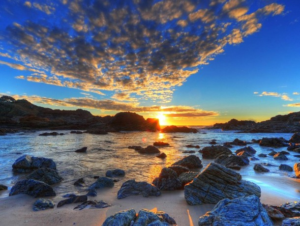 sunset-over-the-rocks