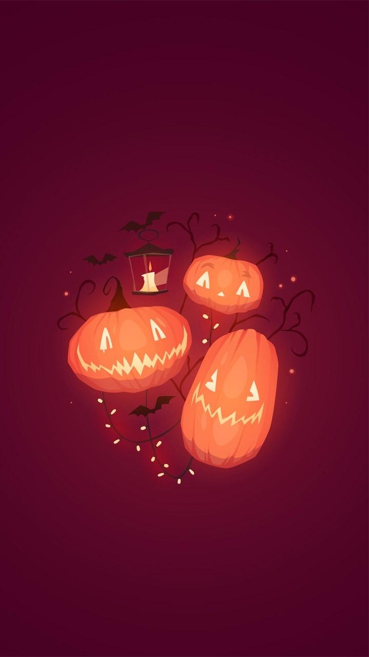 Halloween Pumpkin Wallpaper Iphone.Theme For Iphone 6 Halloween Pumpkin Wallpaper Download Free