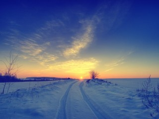 SKYSCAPES SNOW SUNSET AWESOME