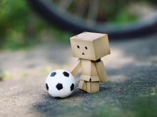 DANBO PLAYING FOOTBALL