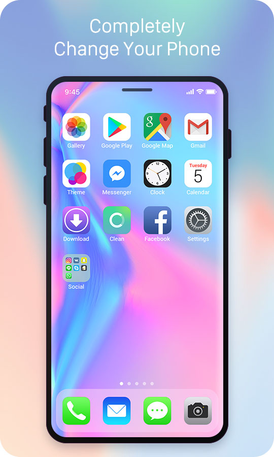 iphone themes for android iphone xlauncher free android theme u launcher 3d 15483